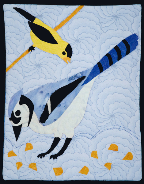 Blue Jay and Goldfinch