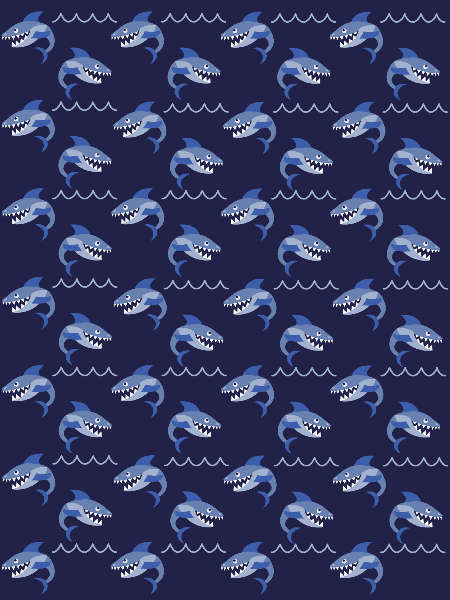 Shark and waves pattern