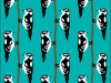 Downy woodpecker repeat pattern