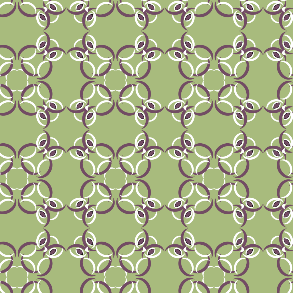 Crescent owls, green and burgundy, spoonflower submission